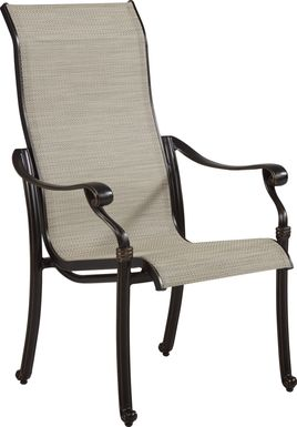 Cindy Crawford Home Lake Como Antique Bronze Sling Arm Chair