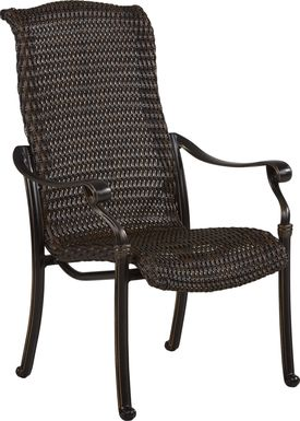 Cindy Crawford Home Lake Como Antique Bronze Wicker Arm Chair