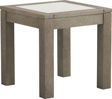 Cindy Crawford Home Lake Tahoe Gray Outdoor End Table