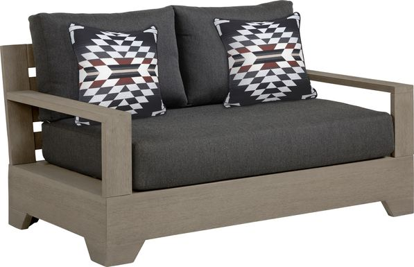 Cindy Crawford Home Lake Tahoe Gray Outdoor Loveseat with Char Cushions