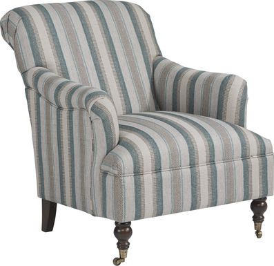 Cindy Crawford Home Lincoln Heights Teal Accent Chair