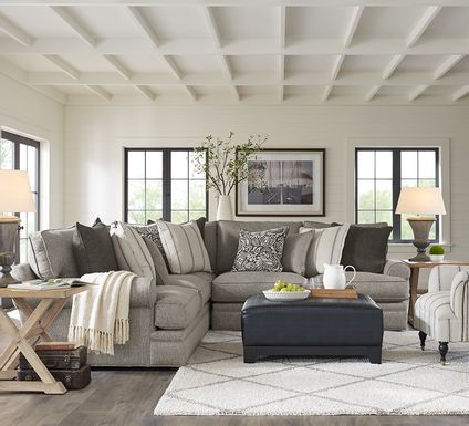 Cindy Crawford Home Lincoln Square Gray 4 Pc Sectional