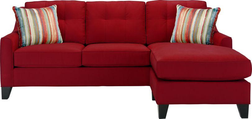 Cindy Crawford Home Madison Place Cardinal Microfiber Sleeper Chaise Sofa
