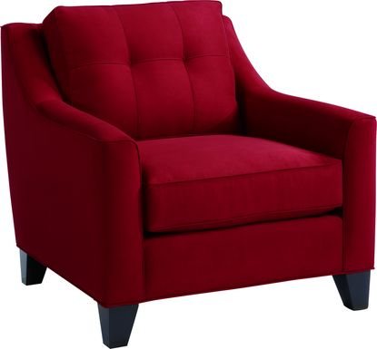 Cindy Crawford Home Madison Place Cardinal Microfiber Chair