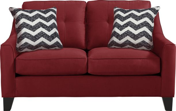 Cindy Crawford Home Madison Place Cardinal Microfiber Loveseat