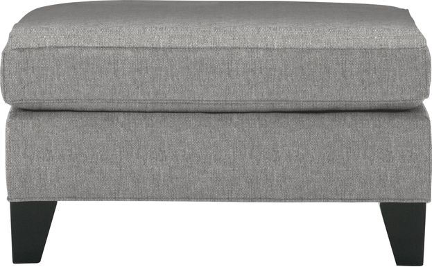 Cindy Crawford Home Madison Place Gray Textured Ottoman