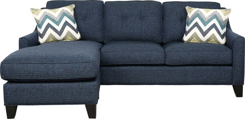 Cindy Crawford Home Madison Place Midnight Textured 2 Pc Sleeper Sectional