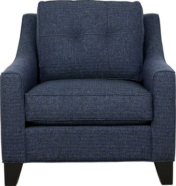 Cindy Crawford Home Madison Place Midnight Textured Chair
