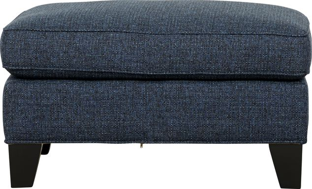Cindy Crawford Home Madison Place Midnight Textured Ottoman