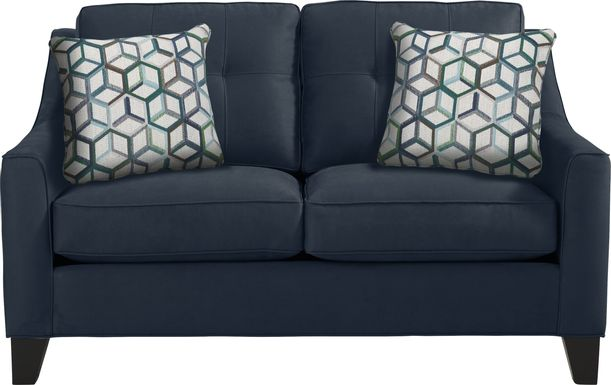 Cindy Crawford Home Madison Place Sapphire Microfiber Loveseat