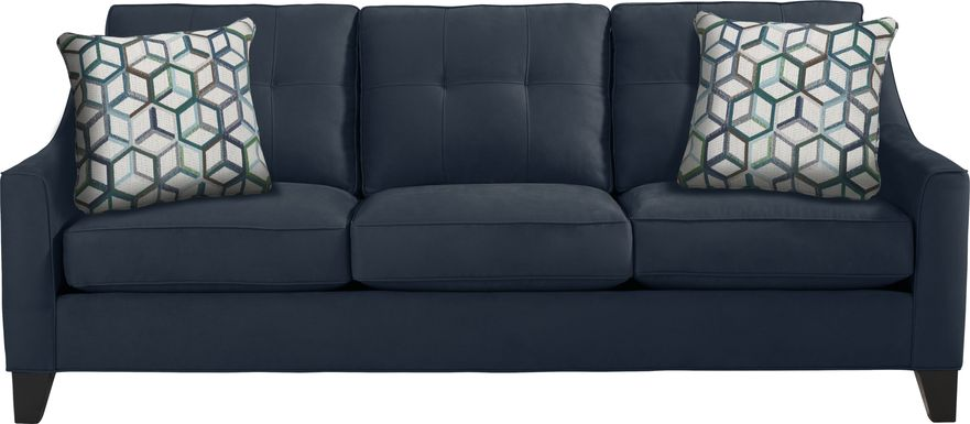 Cindy Crawford Home Madison Place Sapphire Microfiber Sofa
