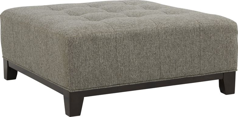 Cindy Crawford Home Metropolis Way Gray Textured Cocktail Ottoman