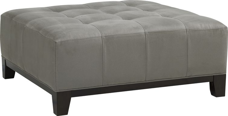 Cindy Crawford Home Metropolis Way Steel Microfiber Cocktail Ottoman