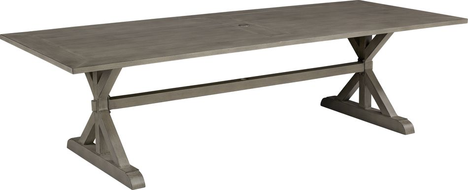 Cindy Crawford Home Montecello Gray 105 in. Rectangle Outdoor Dining Table