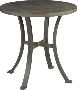 Cindy Crawford Home Montecello Gray 42 in. Round Bar Height Table