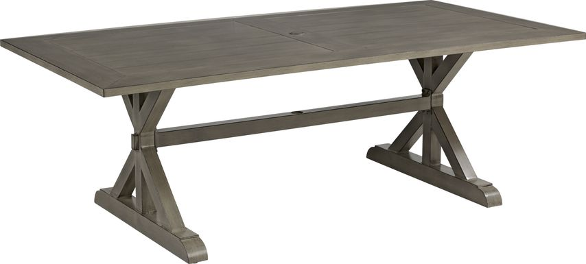 Cindy Crawford Home Montecello Gray 84 in. Rectangle Outdoor Dining Table