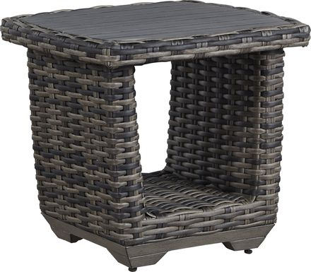 Cindy Crawford Home Montecello Gray Outdoor End Table