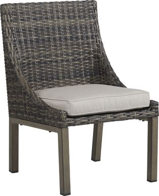 Cindy Crawford Home Montecello Gray Outdoor Side Chair with Silver Cushion