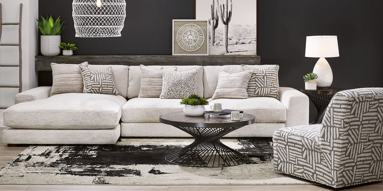 Cindy Crawford Home Monterey Park Off-White 2 Pc Sectional