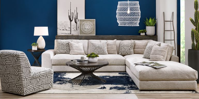 Cindy Crawford Home Monterey Park Off-White 4 Pc Sectional