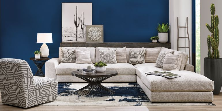 Cindy Crawford Home Monterey Park Off-White 5 Pc Sectional
