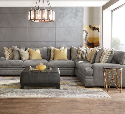 Cindy Crawford Home Palm Springs Gray 4 Pc Sectional
