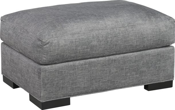 Cindy Crawford Home Palm Springs Gray Ottoman