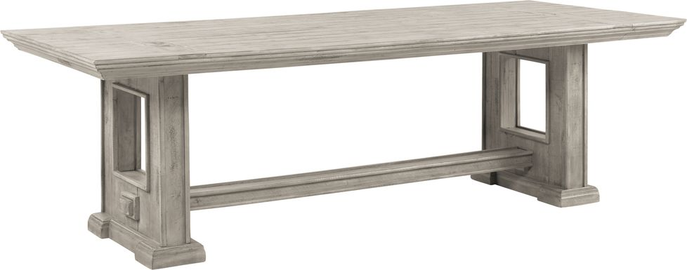 Cindy Crawford Home Pine Manor Gray 102 in. Dining Table