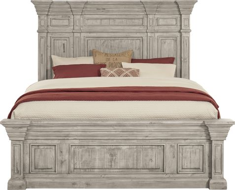 Cindy Crawford Home Pine Manor Gray 3 Pc King Panel Bed
