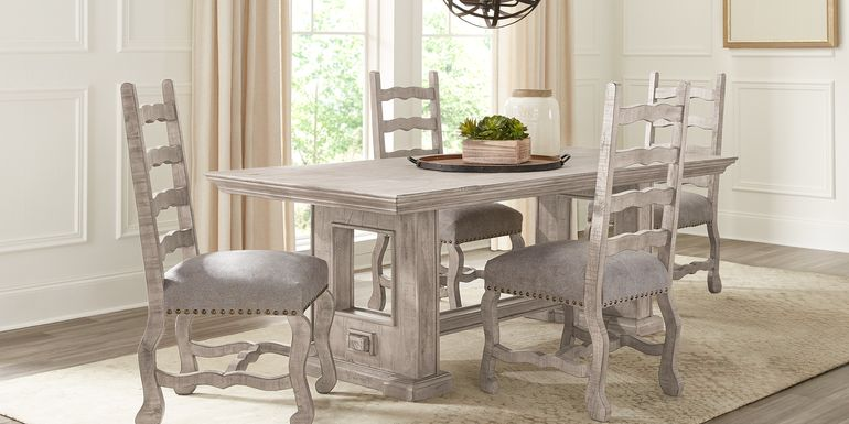 Cindy Crawford Home Pine Manor Gray 5 Pc 85 in. Dining Room