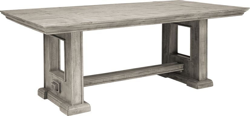 Cindy Crawford Home Pine Manor Gray 85 in. Dining Table