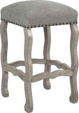 Cindy Crawford Home Pine Manor Gray Backless Barstool