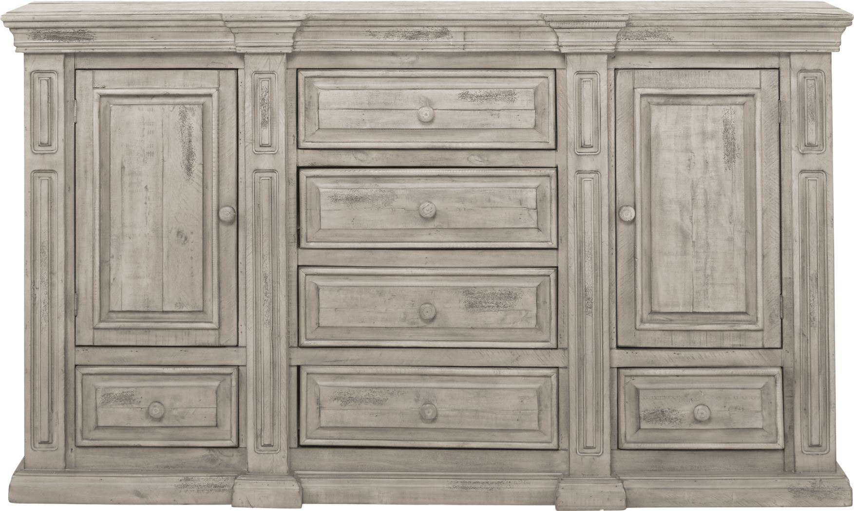 Cindy Crawford Home Pine Manor Gray Dresser