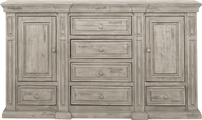 Cindy Crawford Home Pine Manor Gray Dresser