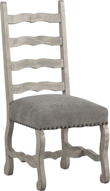 Cindy Crawford Home Pine Manor Gray Ladder Back Side Chair