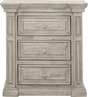 Cindy Crawford Home Pine Manor Gray Nightstand