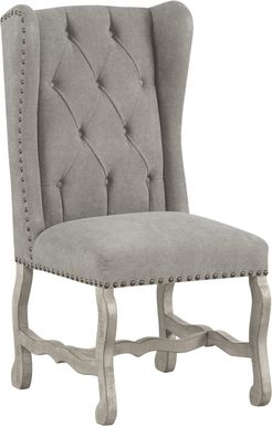 Cindy Crawford Home Pine Manor Gray Wingback Side Chair