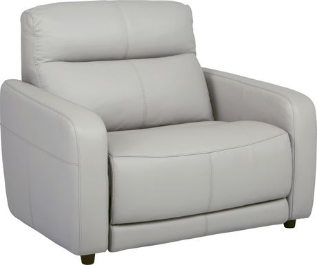 Cindy Crawford Home Salento Gray Leather Power Recliner