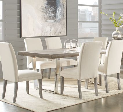 Cindy Crawford Home San Francisco Gray 5 Pc Dining Room with Chalk Chairs