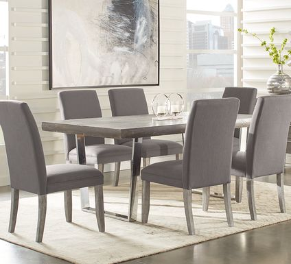 Cindy Crawford Home San Francisco Gray 5 Pc Dining Room with Charcoal Chairs