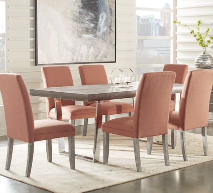 Cindy Crawford Home San Francisco Gray 5 Pc Dining Room with Curry Chairs