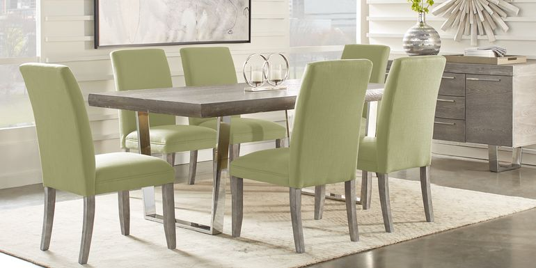 Cindy Crawford Home San Francisco Gray 5 Pc Dining Room with Kiwi Chairs