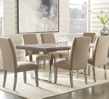 Cindy Crawford Home San Francisco Gray 5 Pc Dining Room with Portobello Chairs