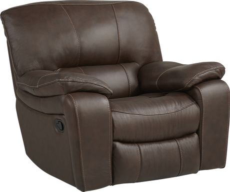 Cindy Crawford Home San Gabriel Brown Glider Recliner