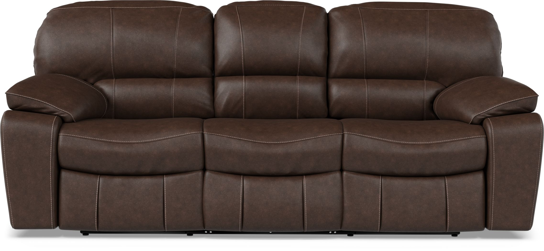 Cindy Crawford Home San Gabriel Brown Leather Power Reclining Sofa