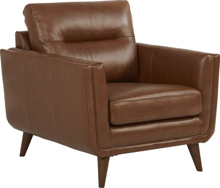 Cindy Crawford Home San Salerno Saddle Leather Chair