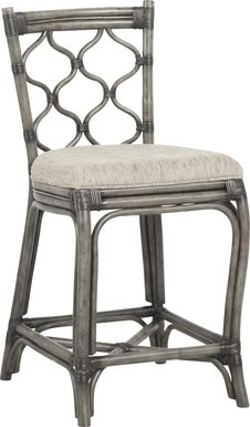 Cindy Crawford Home Shorecrest Gray Counter Height Stool