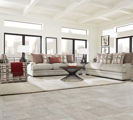 Cindy Crawford Home Tribeca Loft Beige 7 Pc Living Room