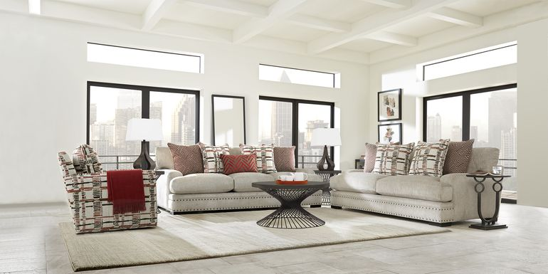 Cindy Crawford Home Tribeca Loft Beige 8 Pc Living Room