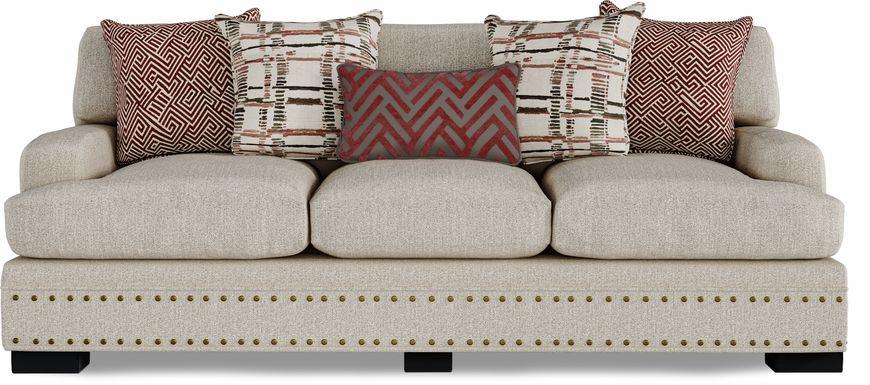 Cindy Crawford Home Tribeca Loft Beige Sofa
